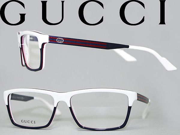 woodnet | Rakuten Global Market: Glasses Gucci White x Navy GUCCI ...