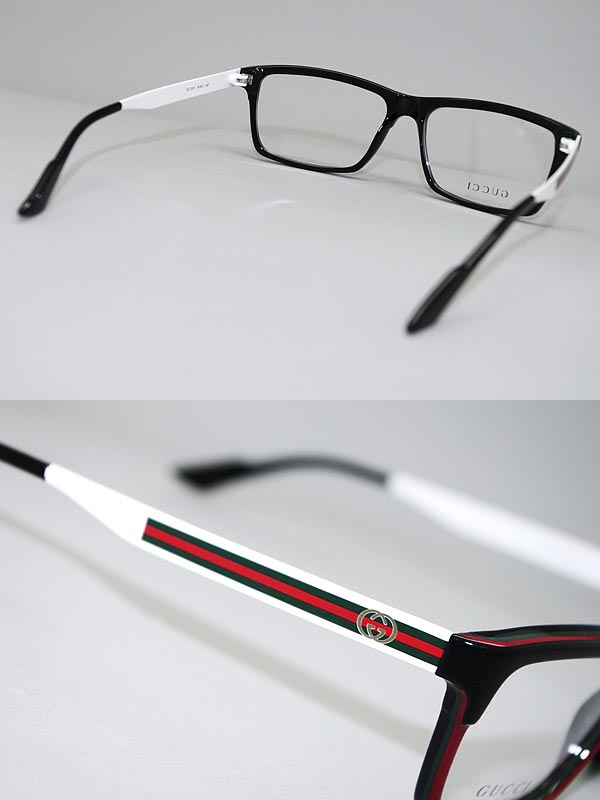 woodnet | Rakuten Global Market: GUCCI glasses black x white Gucci ...