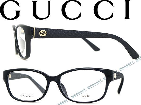 woodnet: GUCCI eyeglasses frame Gucci glasses glasses black GG-3731F ...