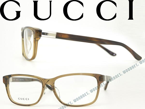 woodnet | Rakuten Global Market: GUCCI Gucci clear Brown eyeglasses ...