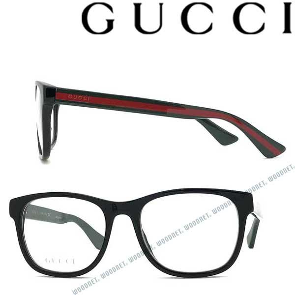 GUCCI メガネフレーム グッチ メンズ&レディース ブラックメガネフレーム 眼鏡 GUC-GG-0004O-007 ブランド