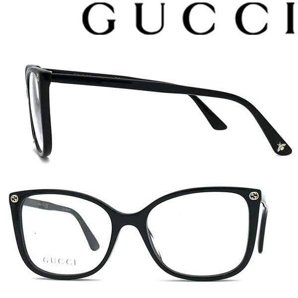 GUCCI メガネフレーム グッチ メンズ&レディース ブラック 眼鏡 GUC-GG-0026O-001 ブランド