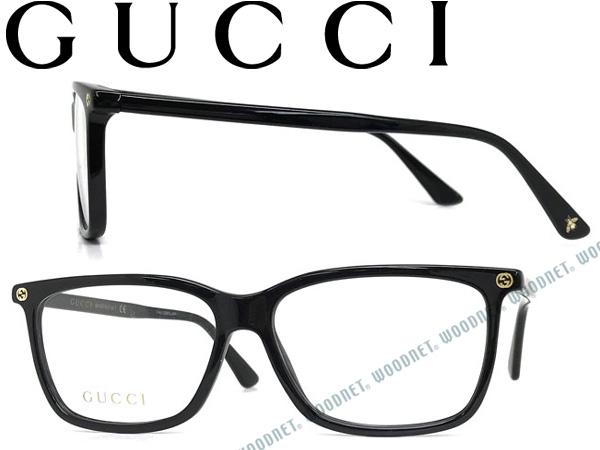 GUCCI グッチ ブラック メガネフレーム メンズ&レディース GUC-GG-0094O-006 ブランド