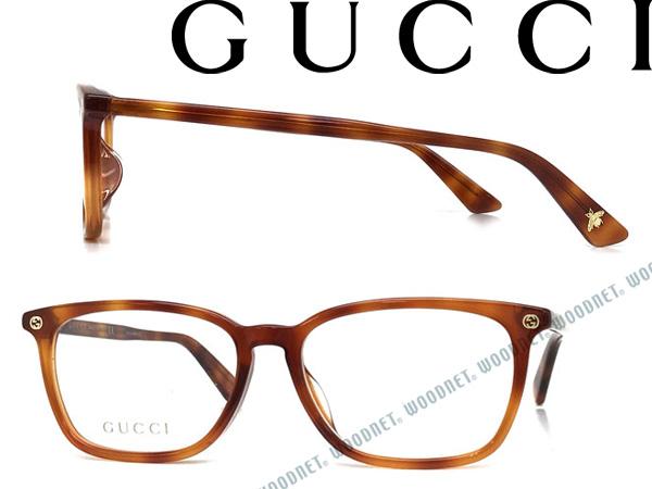 GUCCI メガネフレーム グッチ マーブルブラウン メンズ&レディース GUC-GG-0156OA-002 ブランド