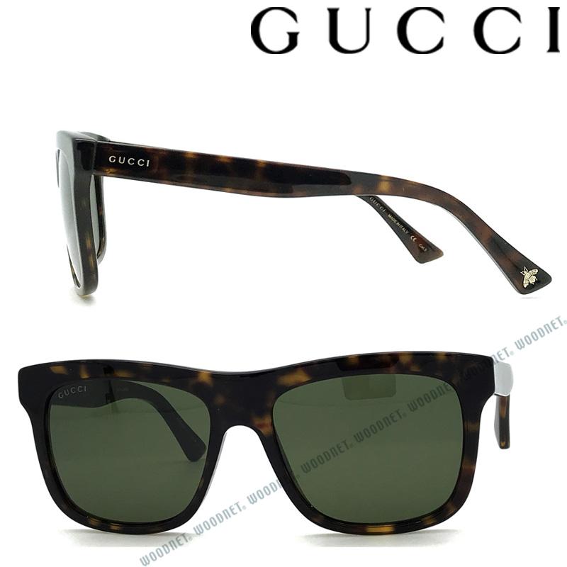 GUCCI サングラス UVカット グッチ メンズ&レディース グリーンブラック GUC-GG-0158S-002 ブランド