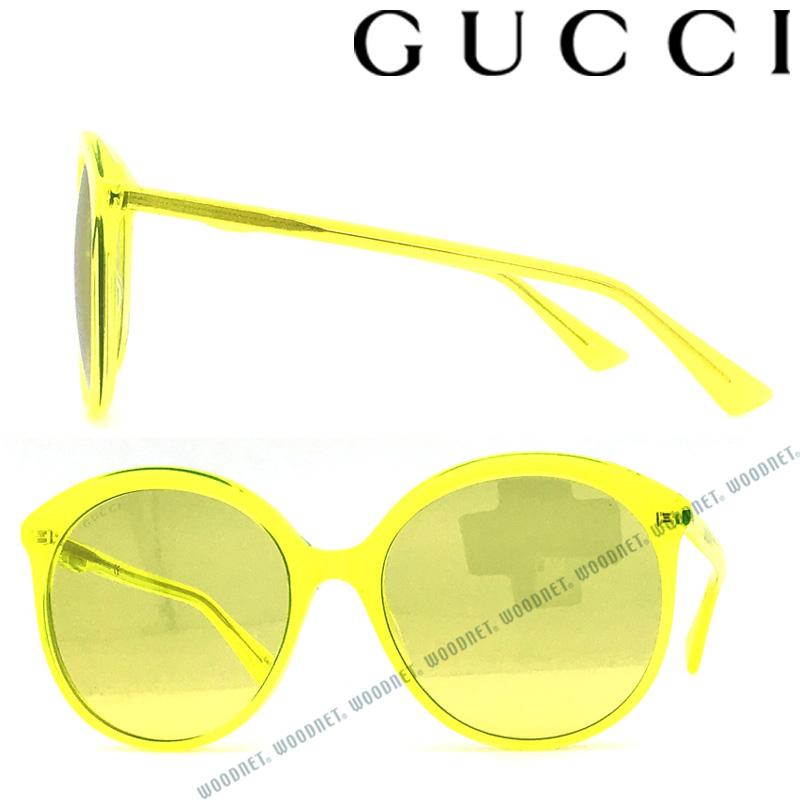 GUCCI サングラス UVカット グッチ メンズ&レディース イエロー GUC-GG-0257S-004 ブランド