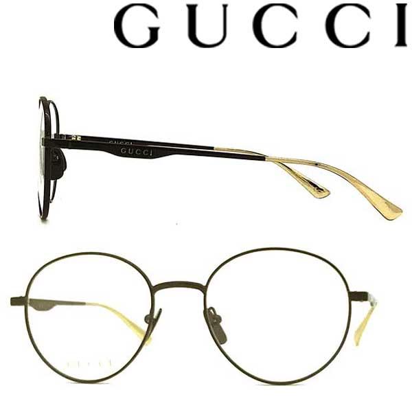 GUCCI メガネフレーム グッチ メンズ&レディース ブラック 眼鏡 GUC-GG-0337O-009 ブランド