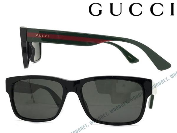 GUCCI サングラス UVカット グッチ ブラック メンズ&レディース サングラス UVカット 偏光レンズ GUC-GG-0340S-002 ブランド