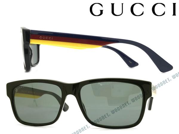 GUCCI サングラス UVカット グッチ ブルー メンズ&レディース サングラス UVカット GUC-GG-0340S-009 ブランド