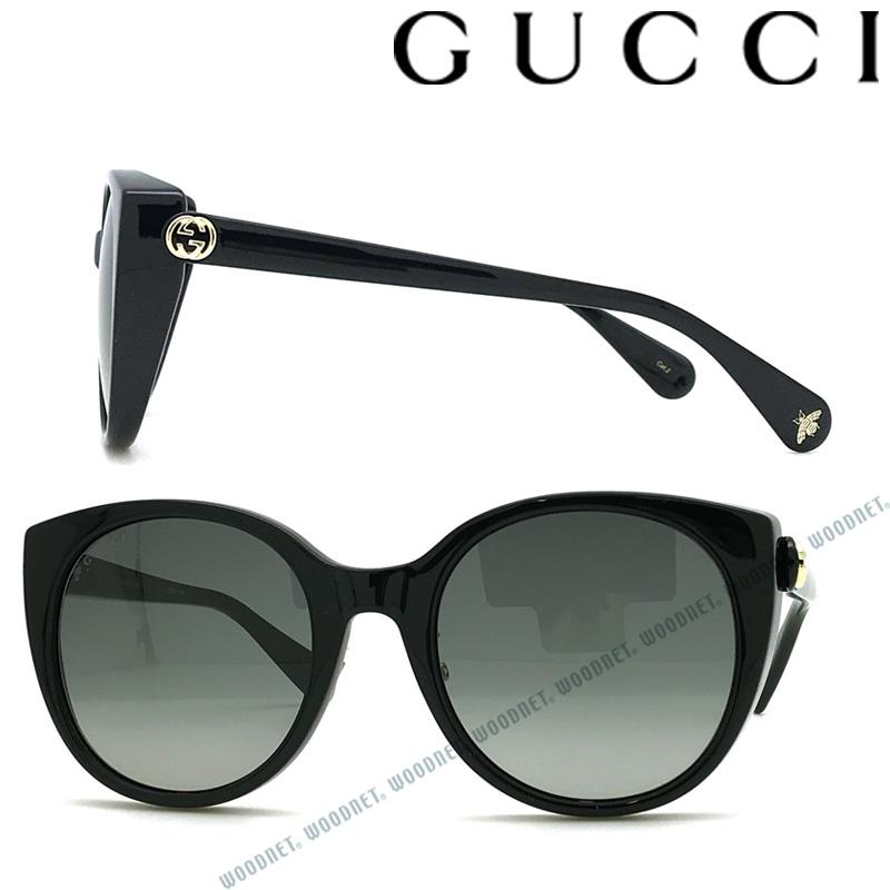 GUCCI サングラス UVカット グッチ メンズ&レディース グラデーションブラック GUC-GG-0369S-001 ブランド