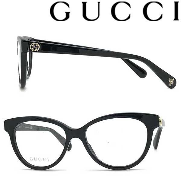 GUCCI メガネフレーム グッチ メンズ&レディース ブラック 眼鏡 GUC-GG-0373O-001 ブランド