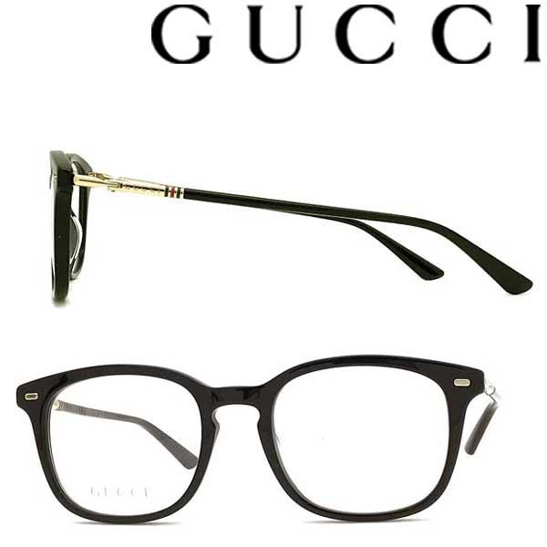 GUCCI メガネフレーム グッチ メンズ&レディース ブラック 眼鏡 GUC-GG-0390O-005 ブランド