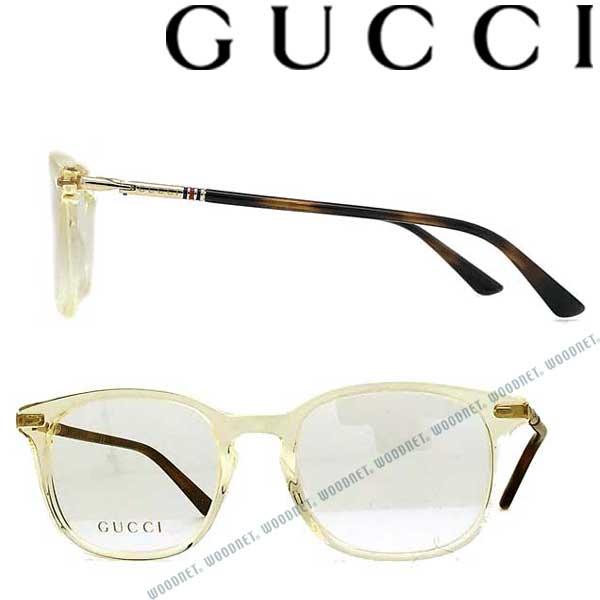 GUCCI メガネフレーム グッチ メンズ&レディース クリアライトイエロー 眼鏡 GUC-GG-0390O-008 ブランド