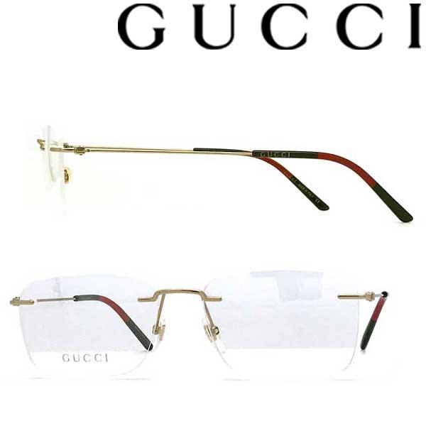 GUCCI メガネフレーム グッチ メンズ&レディース ゴールド 縁無し 眼鏡 2pt GUC-GG-0399O-002 ブランド