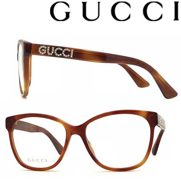 GUCCI メガネフレーム グッチ メンズ&レディース マーブルブラウン 眼鏡 GUC-GG-0421O-004 ブランド