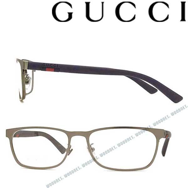 GUCCI メガネフレーム グッチ メンズ&レディース マットシルバー 眼鏡 GUC-GG-0425O-003 ブランド