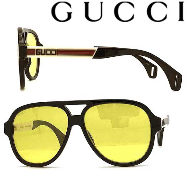 GUCCI サングラス グッチ メンズ&レディース ブラック イエロー GUC-GG-0463S-001 ブランド