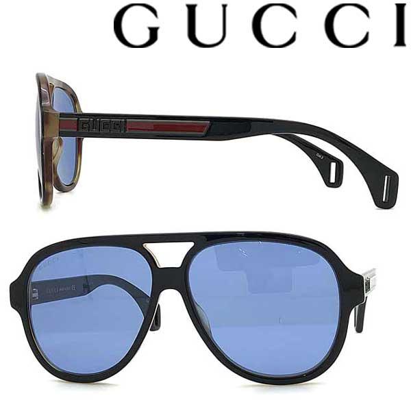 GUCCI サングラス グッチ メンズ&レディース ブラック ブルー GUC-GG-0463S-004 ブランド