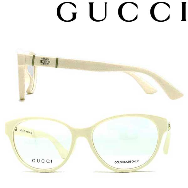 GUCCI メガネフレーム グッチ メンズ&レディース アイボリー 眼鏡 GUC-GG-0633O-004 ブランド