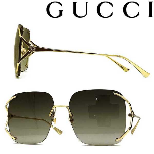 GUCCI サングラス グッチ メンズ&レディース グラデーションブラック 縁無し 2pt GUC-GG-0646S-001 ブランド