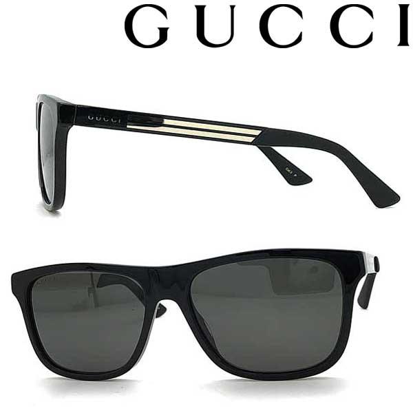 GUCCI サングラス グッチ メンズ&レディース ブラック ≪偏光レンズ≫GUC-GG-0687S-002 ブランド