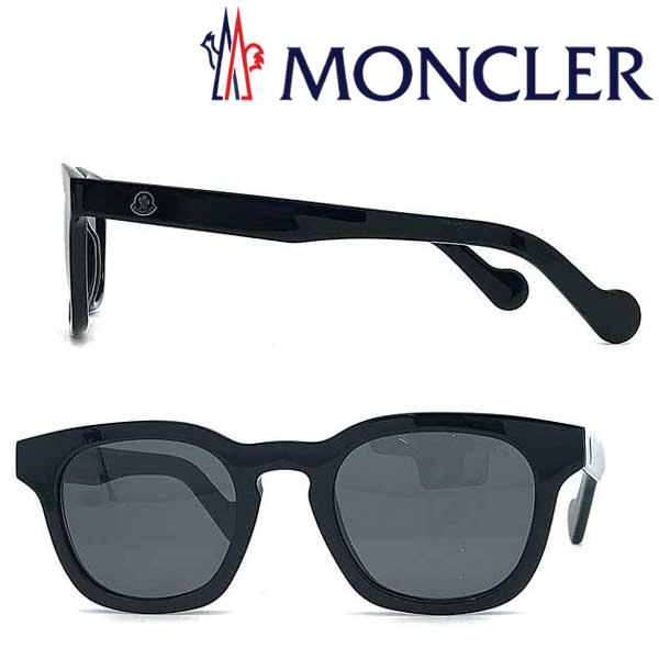 MONCLER サングラス モンクレール メンズ&レディース ブラック ML-0072-01A ブランド