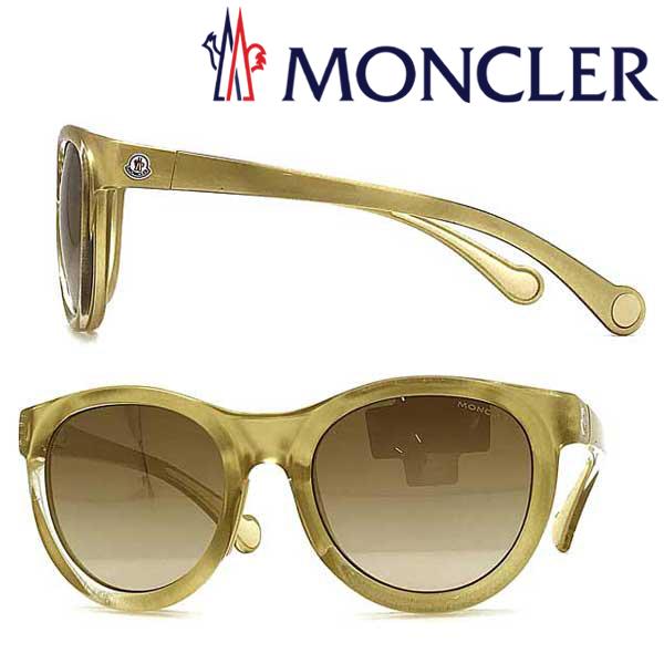 MONCLER サングラス UVカット モンクレール メンズ&レディース グラデーションブラウン ML-0087-32G ブランド