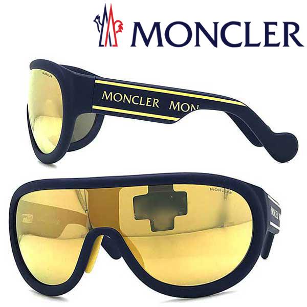 MONCLER サングラス UVカット モンクレール メンズ&レディース ゴールドミラー ML-0106-91C ブランド