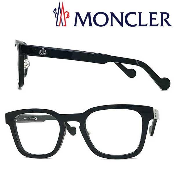 MONCLER メガネフレーム モンクレール メンズ&レディース ブラック 眼鏡 ML-5049-001 ブランド