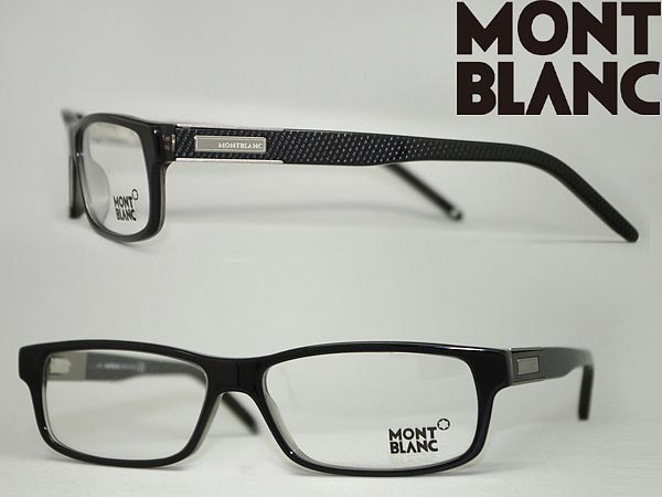 c4bf793efa MONT BLANC glasses black Mont Blanc eyeglasses frame glasses MB-0334-005  branded mens   ladies   men for   woman sex for and once with ITA reading  glasses ...