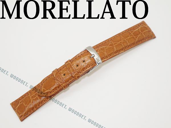 MORELLATO モレラ―ト アマデウス クロコダイルレザー 腕時計ベルト ライトゴールドブラウン 時計 バンド U0518-AMADEUS-052-046 ブランド/メンズ&レディース/男性用&女性用
