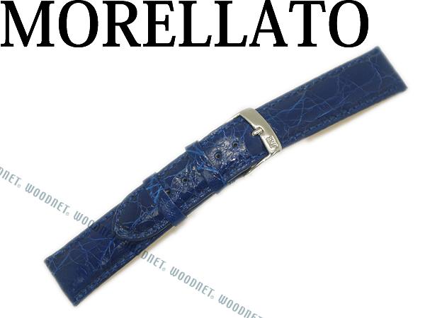 MORELLATO モレラ―ト アマデウス クロコダイルレザー 腕時計ベルト ブルー 時計 バンド U0518-AMADEUS-052-065 ブランド/メンズ&レディース/男性用&女性用