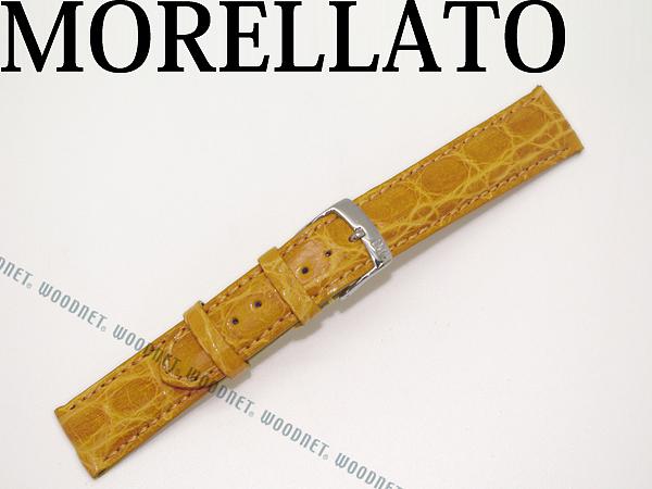 MORELLATO モレラ—ト アマデウス クロコダイルレザー 腕時計ベルト イエロー 時計 バンド U0518-AMADEUS-052-097 ブランド/メンズ&レディース/男性用&女性用