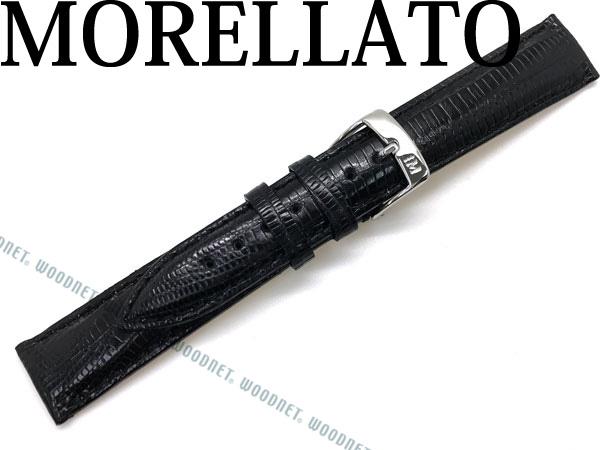 MORELLATO モレラ―ト VOLTERRA ボルテラリザードレザー 腕時計ベルト ブラック U0856-VOLTERRA-041-019 ブランド/メンズ&レディース/男性用&女性用