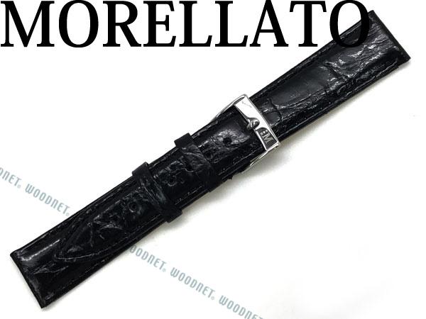 MORELLATO モレラ―ト TRACY トレイシー クロコダイルレザー 腕時計ベルト ブラック X2197-TRACY-052-019 ブランド/メンズ&レディース/男性用&女性用