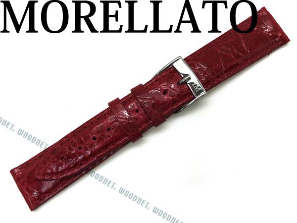 MORELLATO モレラ―ト TRACY トレイシー クロコダイルレザー 腕時計ベルト レッド X2197-TRACY-052-183 ブランド/メンズ&レディース/男性用&女性用
