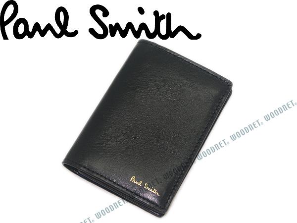 Paul Smith ポールスミス 名刺入れ レザーカードケース ブラック ASPC5040-W809B ブランド/メンズ/男性用/