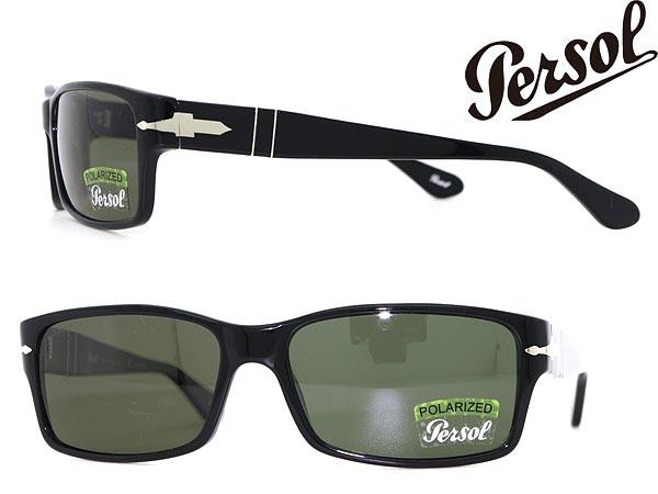 サングラス Persol 偏光レンズ ペルソール ブラック 0PO-2803-9558 ブランド/メンズ&レディース/男性用&女性用/紫外線UVカットレンズ/ドライブ/釣り/アウトドア/おしゃれ