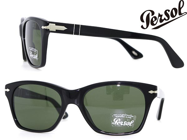 5a9102ea12 Persol sunglasses black reinforced glass lens Persol 0PO-3027-95-31 □ price  ...