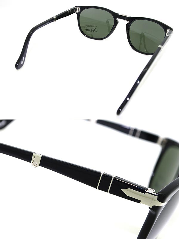 8a0cdbbcafc05 ... Sunglasses Persol black folding reinforced glass lens persol 0PO-3028-95-31  branded ...