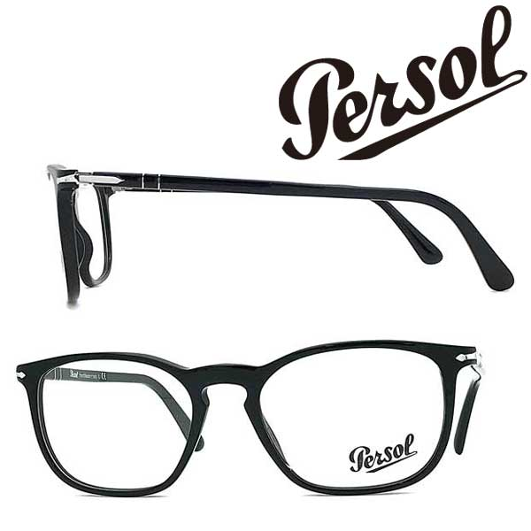 Persol メガネフレーム ペルソール メンズ&レディース ブラック 眼鏡 0PO-3220V-95 ブランド