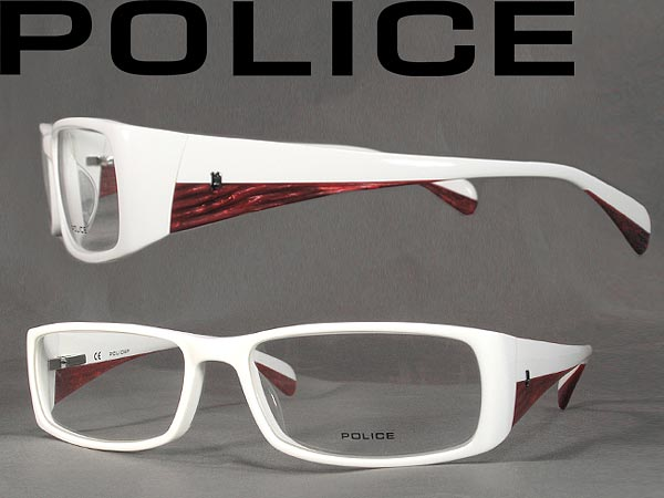 64fb0a9a5e7 woodnet  Glasses POLICE police eyeglasses frame glasses white 1619 ...