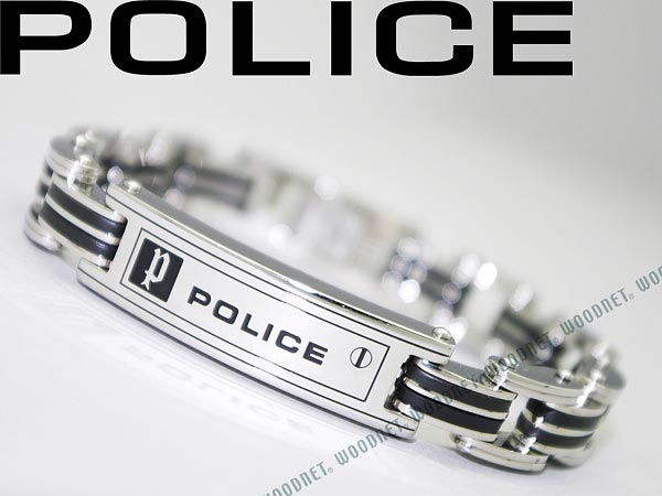Woman Business For Police Bracelet Silver X Black Carb 01 Wn0006 Brand Men Lady S