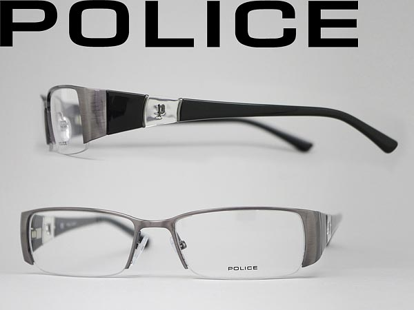 dark glasses police silver x black eyeglass frames police eyeglass police v8459 0k33 branded - Name Brand Eyeglass Frames