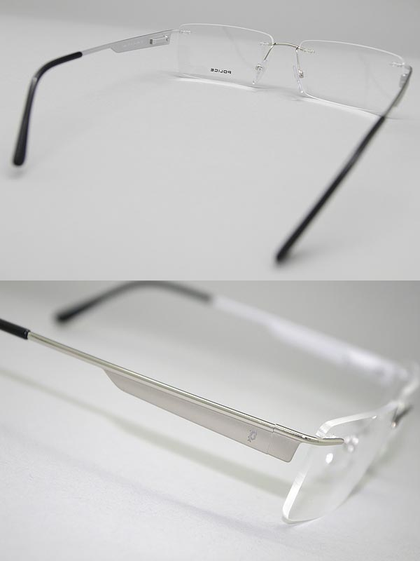 woodnet: POLICE glasses rim protection / borderless no silver police ...