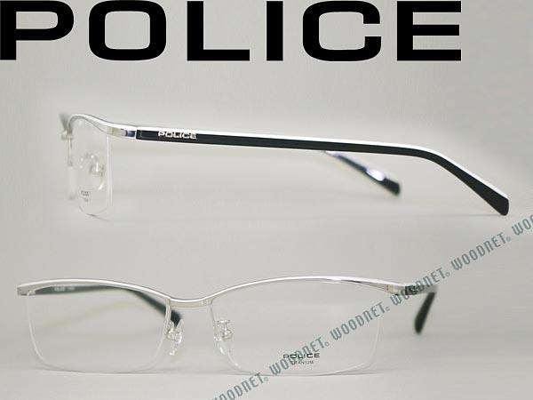 POLICE ポリス メガネフレーム パラジウム 眼鏡 めがね POLICE-VPL175J-0579 ブランド/メンズ&レディース/男性用&女性用/度付き・伊達・老眼鏡・カラー・パソコン用PCメガネレンズ交換対応