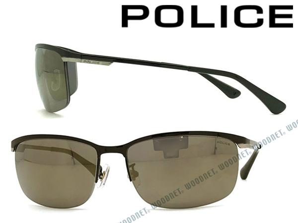POLICE サングラス ポリス メンズ&レディース ブラックゴールドミラー POLICE-SPL751J-530G ブランド