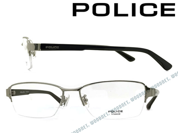 POLICE メガネフレーム ポリス メンズ&レディース シルバー眼鏡 POLICE-VPL822J-0S15 ブランド