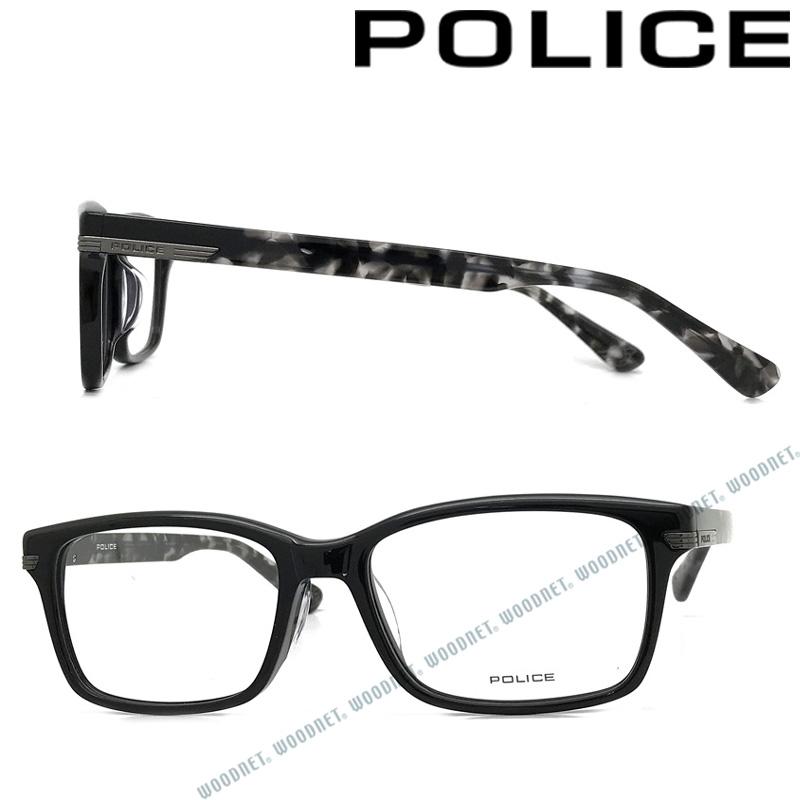 POLICE メガネフレーム ポリス メンズ&レディース ブラック 眼鏡 POLICE-VPL846J-01KT ブランド