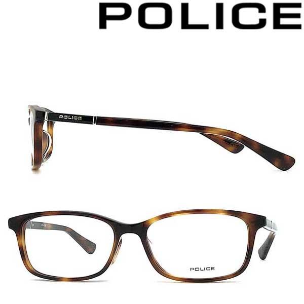 POLICE メガネフレーム ポリス メンズ&レディース ハバナ 眼鏡 POLICE-VPLA11J-02BU